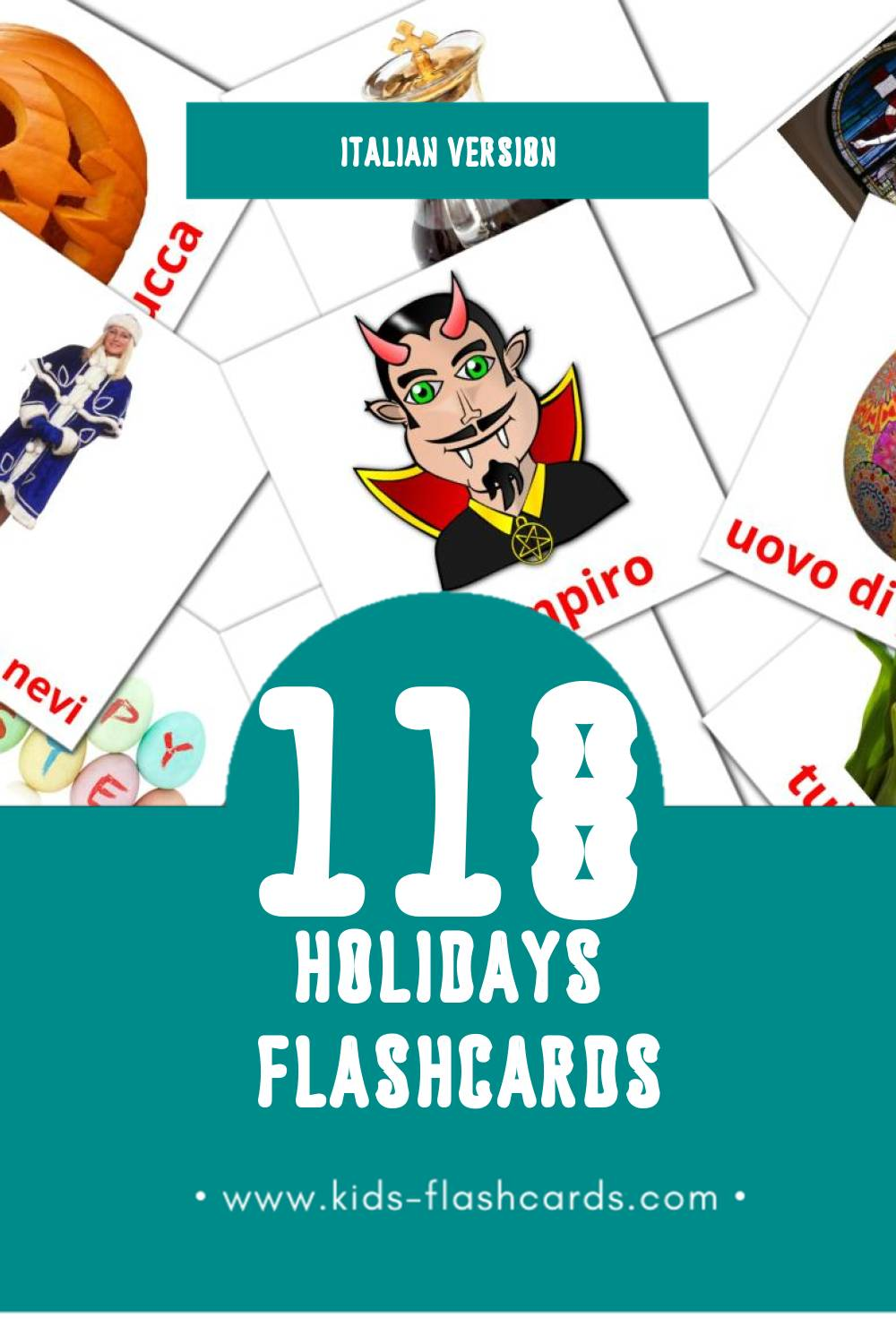Visual Vacanze Flashcards for Toddlers (28 cards in Italian)