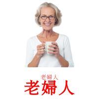 老婦人 picture flashcards