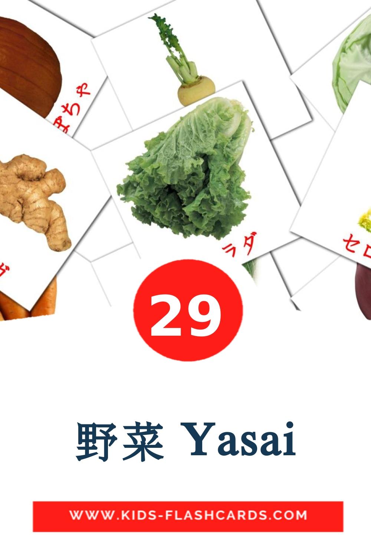 29 野菜 Yasai Picture Cards for Kindergarden in japanese
