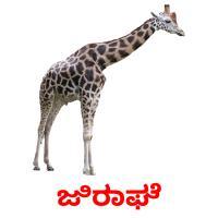 ಜಿರಾಫೆ picture flashcards