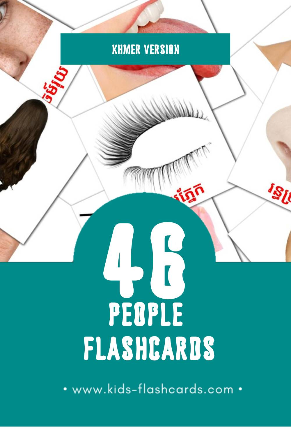 Visual មនុស្ស Flashcards for Toddlers (26 cards in Khmer)