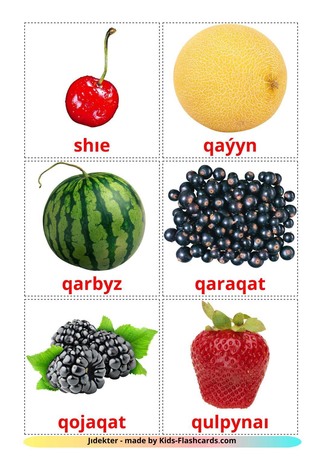 Berries - 11 Free Printable kazakh(latin) Flashcards