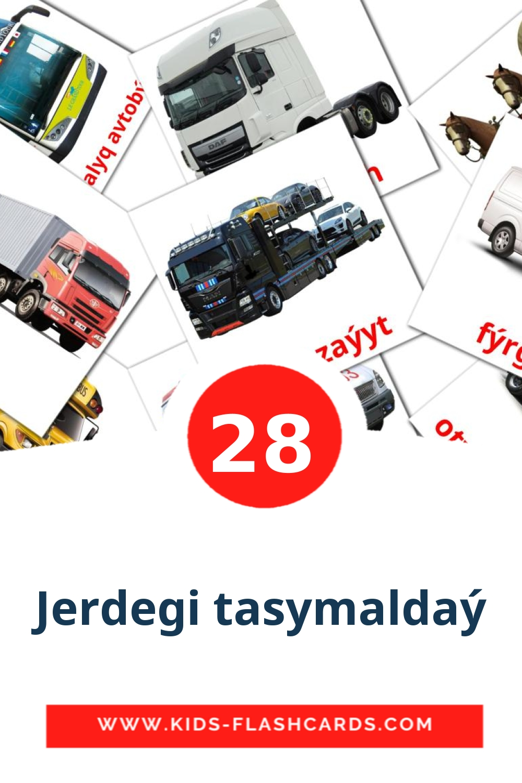 28 Jerdegі tasymaldaý Picture Cards for Kindergarden in kazakh(latin)