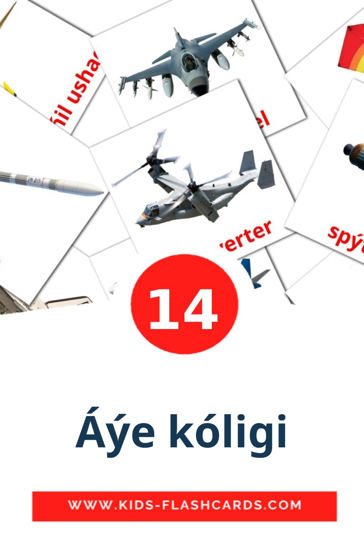 14 Áýe kólіgі Picture Cards for Kindergarden in kazakh(latin)
