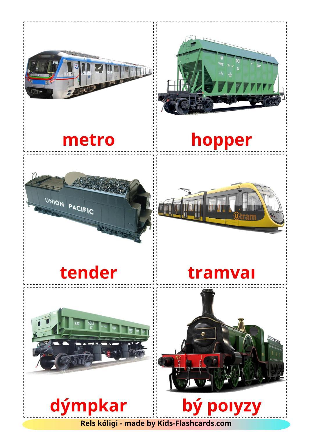 Rail transport - 18 Free Printable kazakh(latin) Flashcards