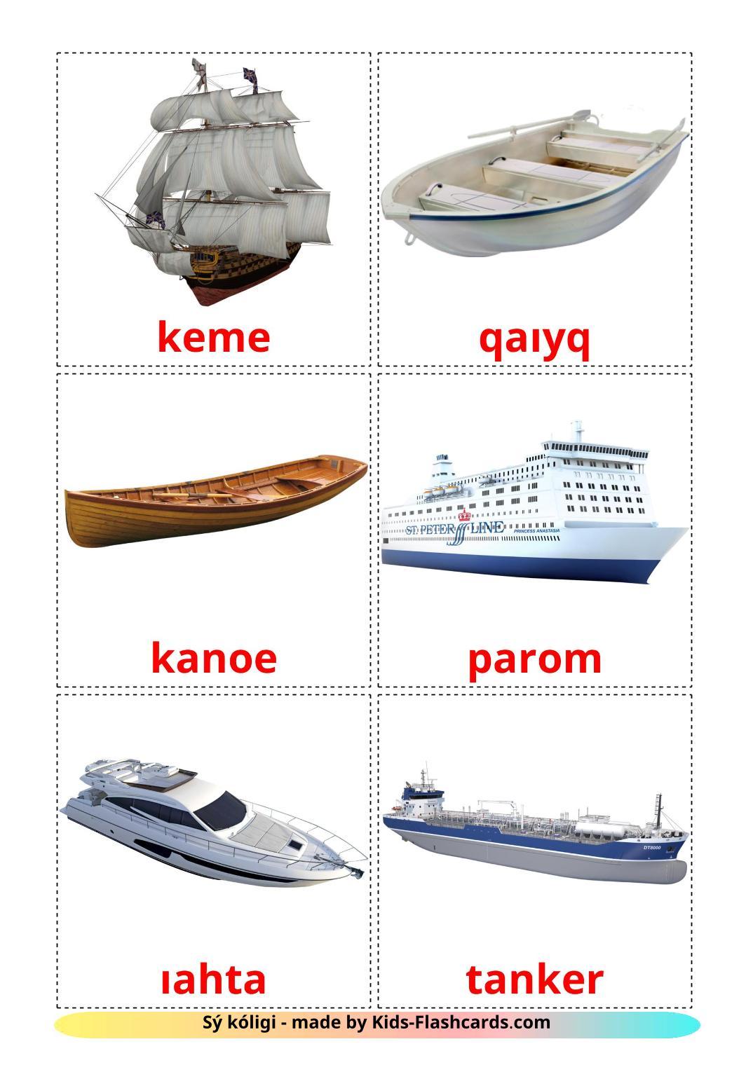 Water transport - 18 Free Printable kazakh(latin) Flashcards