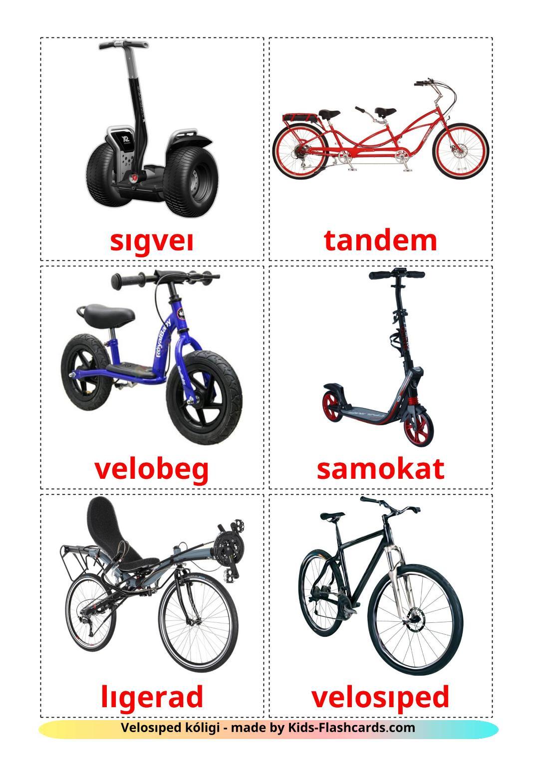 Bicycle transport - 16 Free Printable kazakh(latin) Flashcards