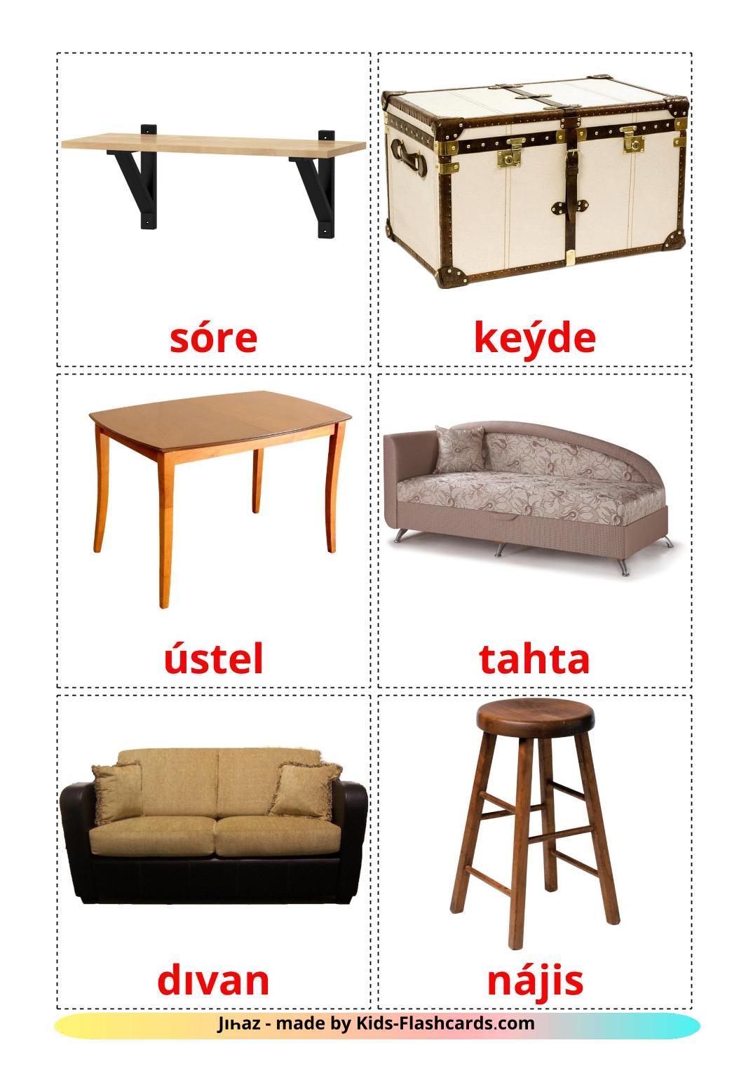 Furniture - 31 Free Printable kazakh(latin) Flashcards