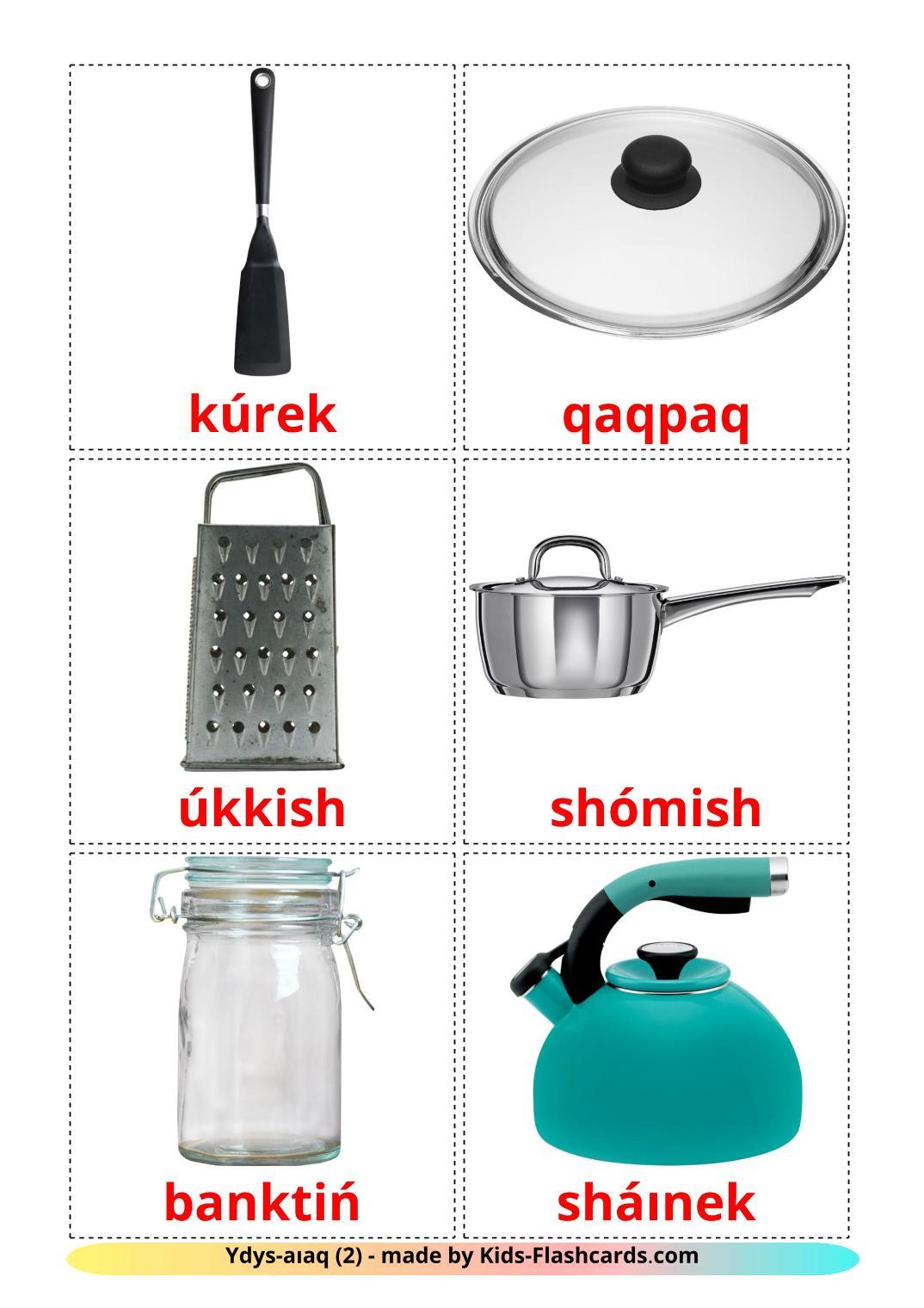 Kitchenware - 35 Free Printable kazakh(latin) Flashcards