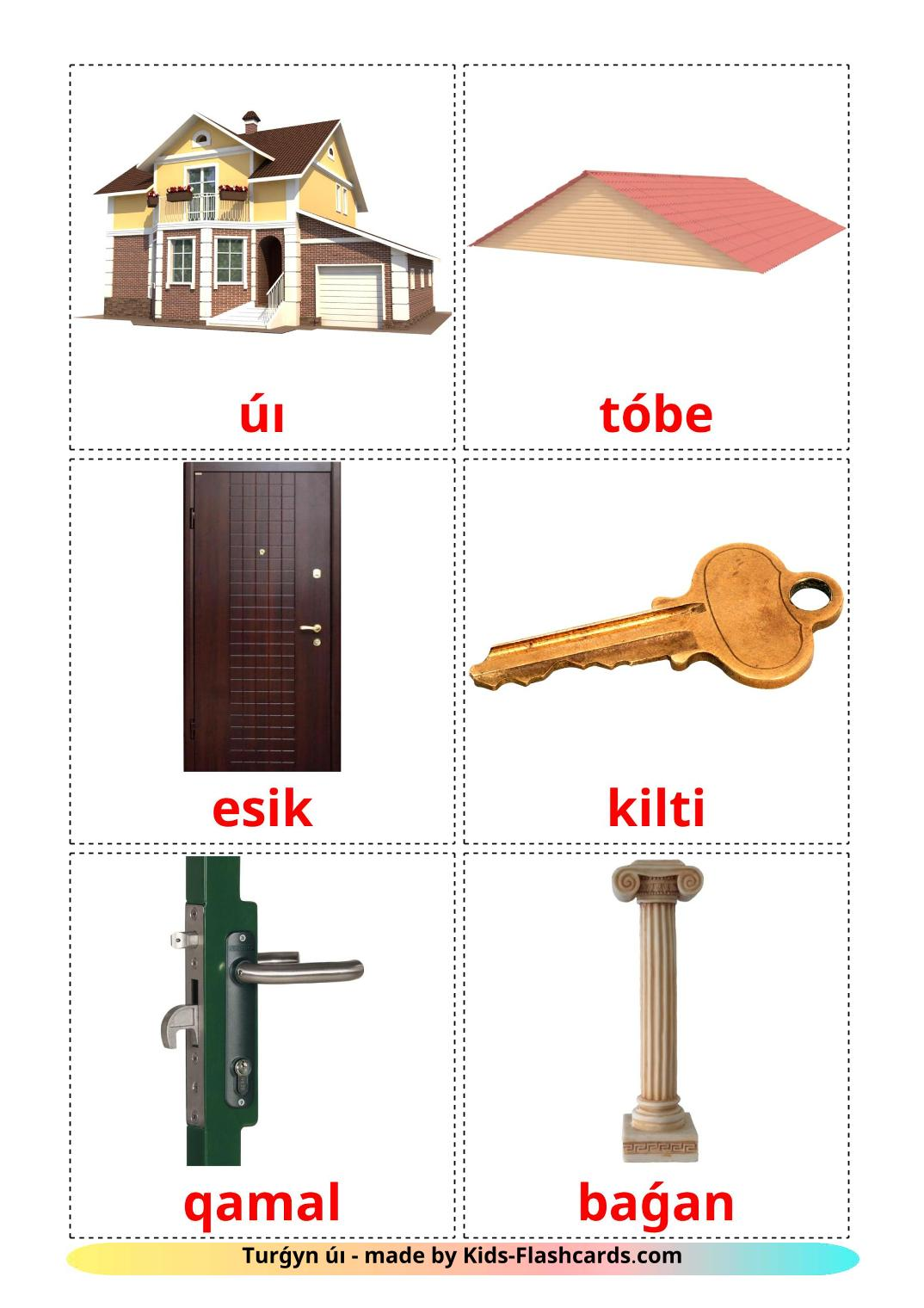 House - 25 Free Printable kazakh(latin) Flashcards