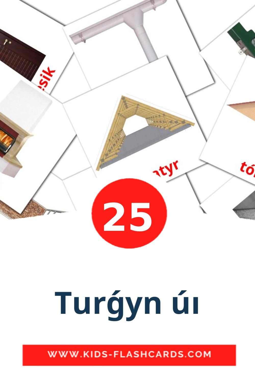 25 Turǵyn úı Picture Cards for Kindergarden in kazakh(latin)