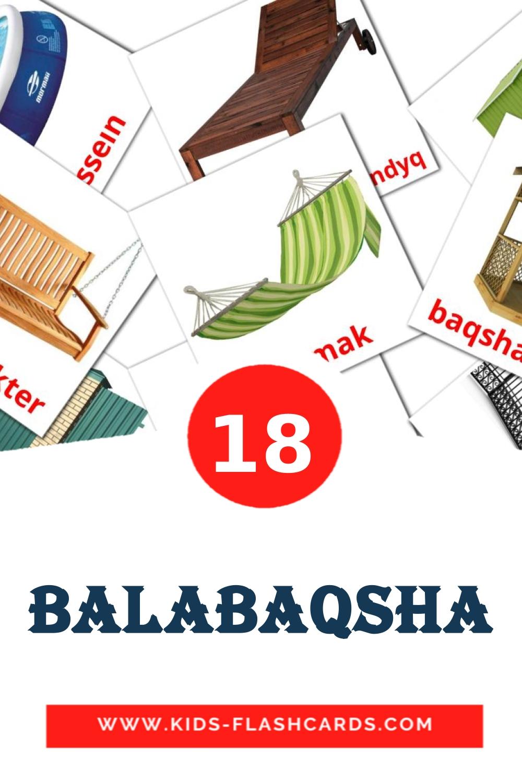 18 Balabaqsha Picture Cards for Kindergarden in kazakh(latin)