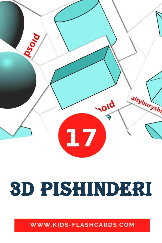 17 3D pіshіnderі Picture Cards for Kindergarden in kazakh(latin)