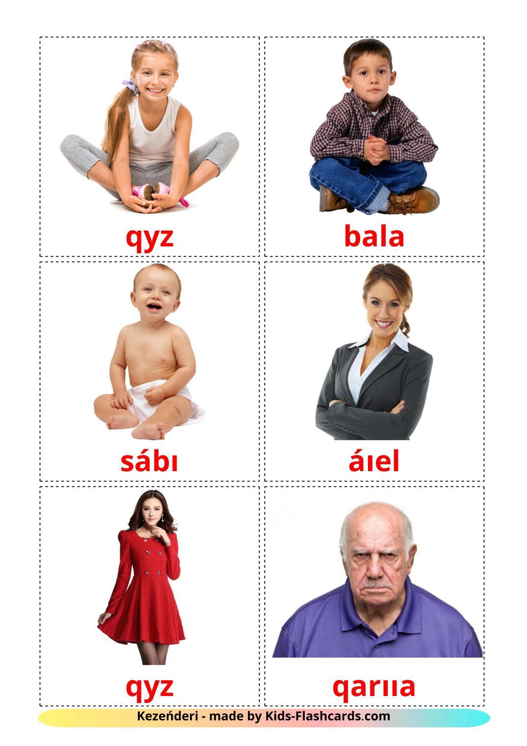 Stages - 12 Free Printable kazakh(latin) Flashcards