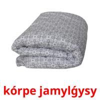 kórpe jamylǵysy picture flashcards