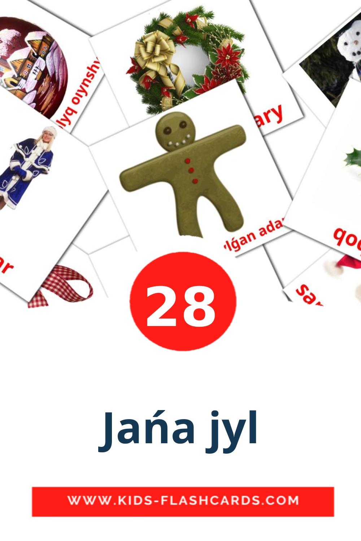 28 Jańa jyl Picture Cards for Kindergarden in kazakh(latin)