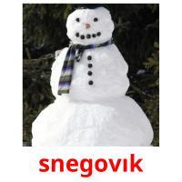 snegovık picture flashcards