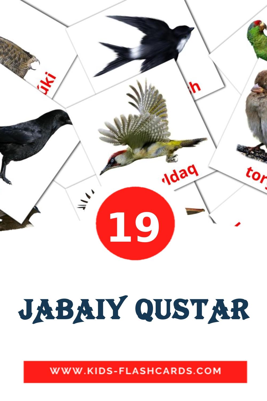 16 JABAIY QUSTAR Picture Cards for Kindergarden in kazakh(latin)
