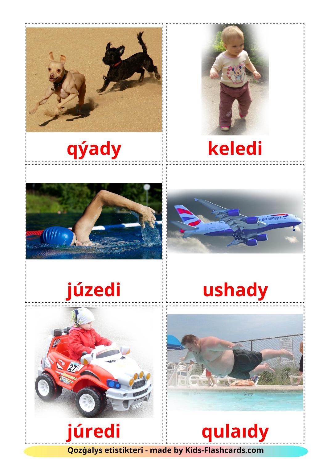 Movement verbs - 22 Free Printable kazakh(latin) Flashcards