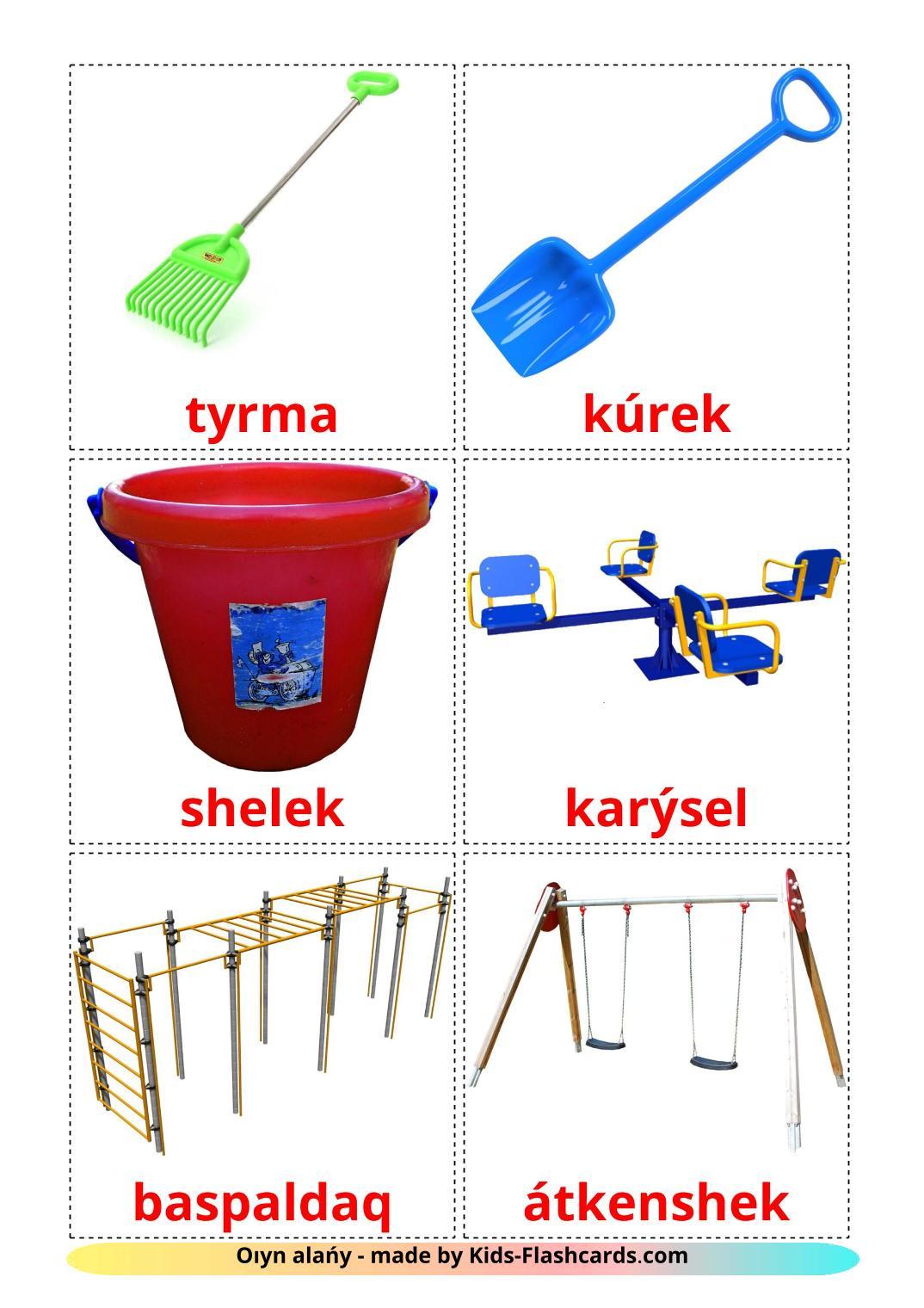 Playground - 13 Free Printable kazakh(latin) Flashcards