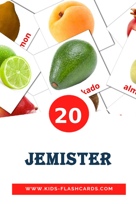 20 Jemіster Picture Cards for Kindergarden in kazakh(latin)
