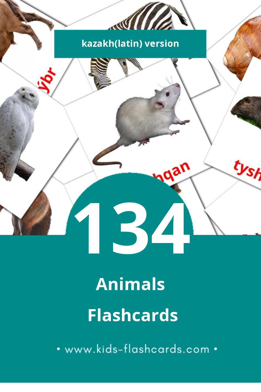 Visual Janýarlar Flashcards for Toddlers (134 cards in Kazakh(latin))