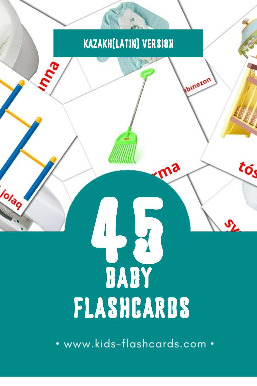 Visual bala Flashcards for Toddlers (45 cards in Kazakh(latin))