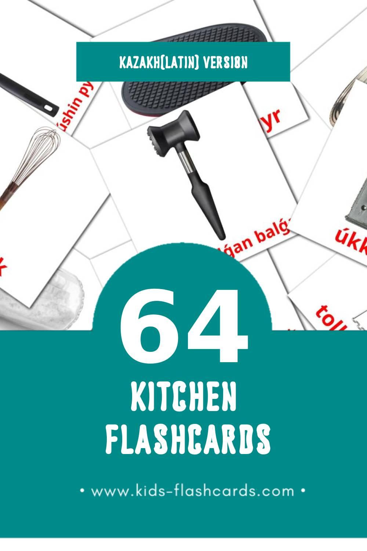 Visual Taǵamdar Flashcards for Toddlers (64 cards in Kazakh(latin))