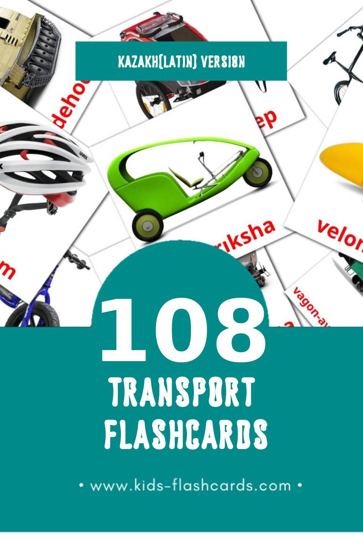 Visual Kólіk Flashcards for Toddlers (108 cards in Kazakh(latin))