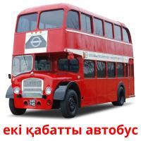 екі қабатты автобус picture flashcards