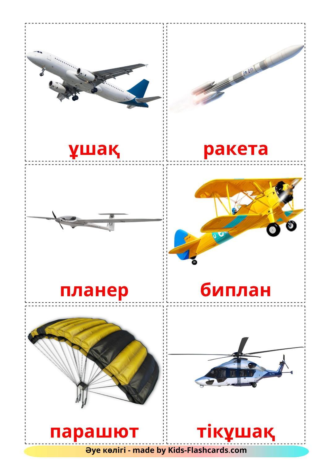 Aircraft - 14 Free Printable kazakh Flashcards