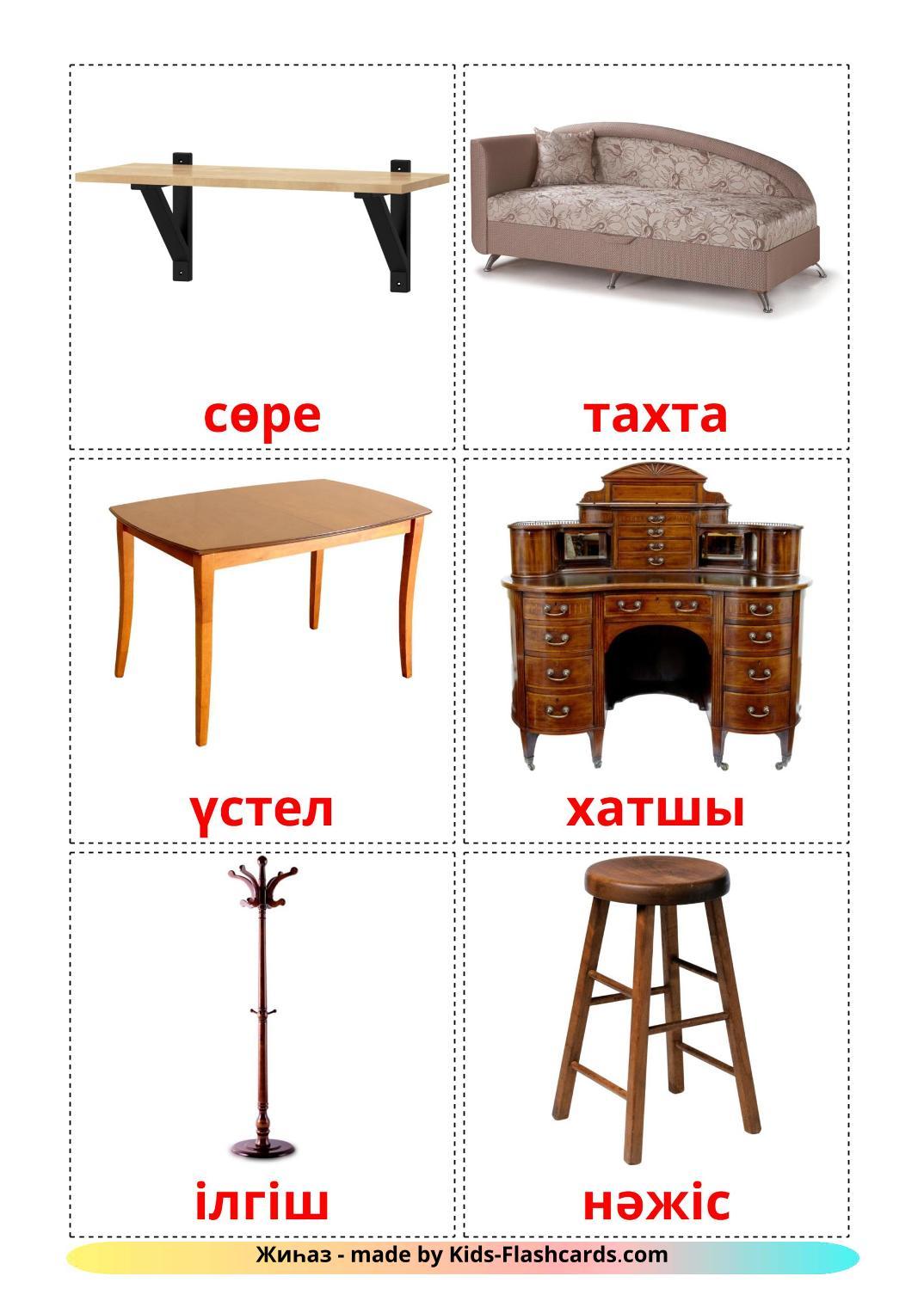 Furniture - 31 Free Printable kazakh Flashcards