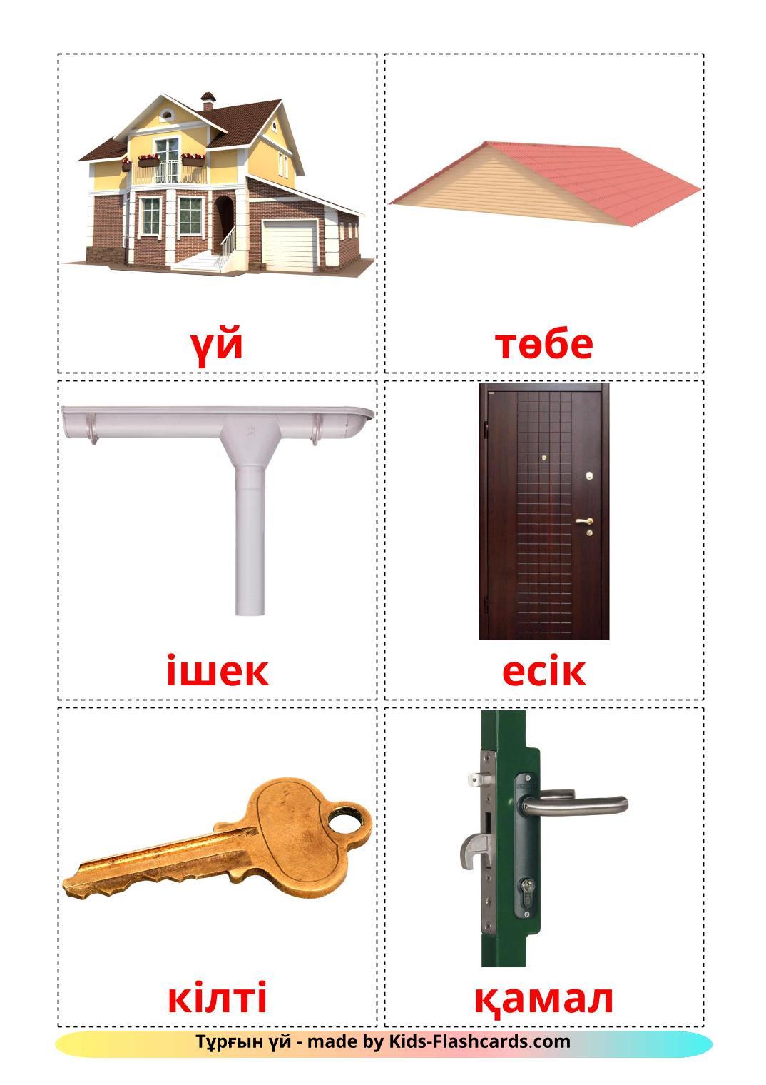 House - 25 Free Printable kazakh Flashcards
