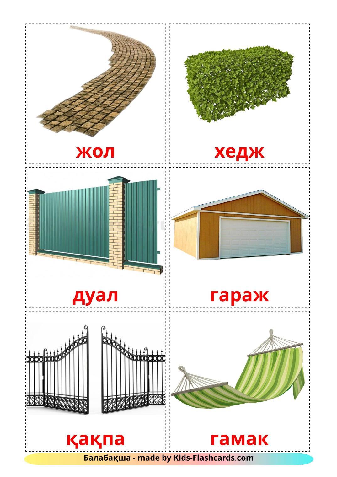 Garden - 18 Free Printable kazakh Flashcards