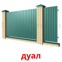 дуал picture flashcards
