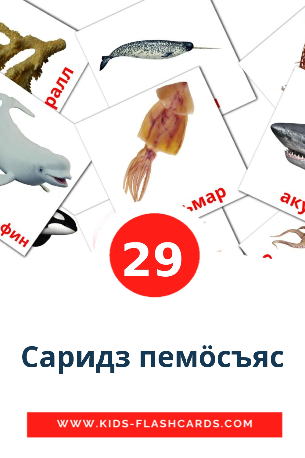29 Саридз пемöсъяс Picture Cards for Kindergarden in komi