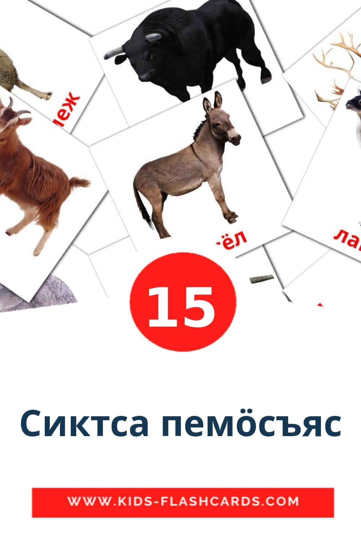 15 Сиктса пемöсъяс Picture Cards for Kindergarden in komi