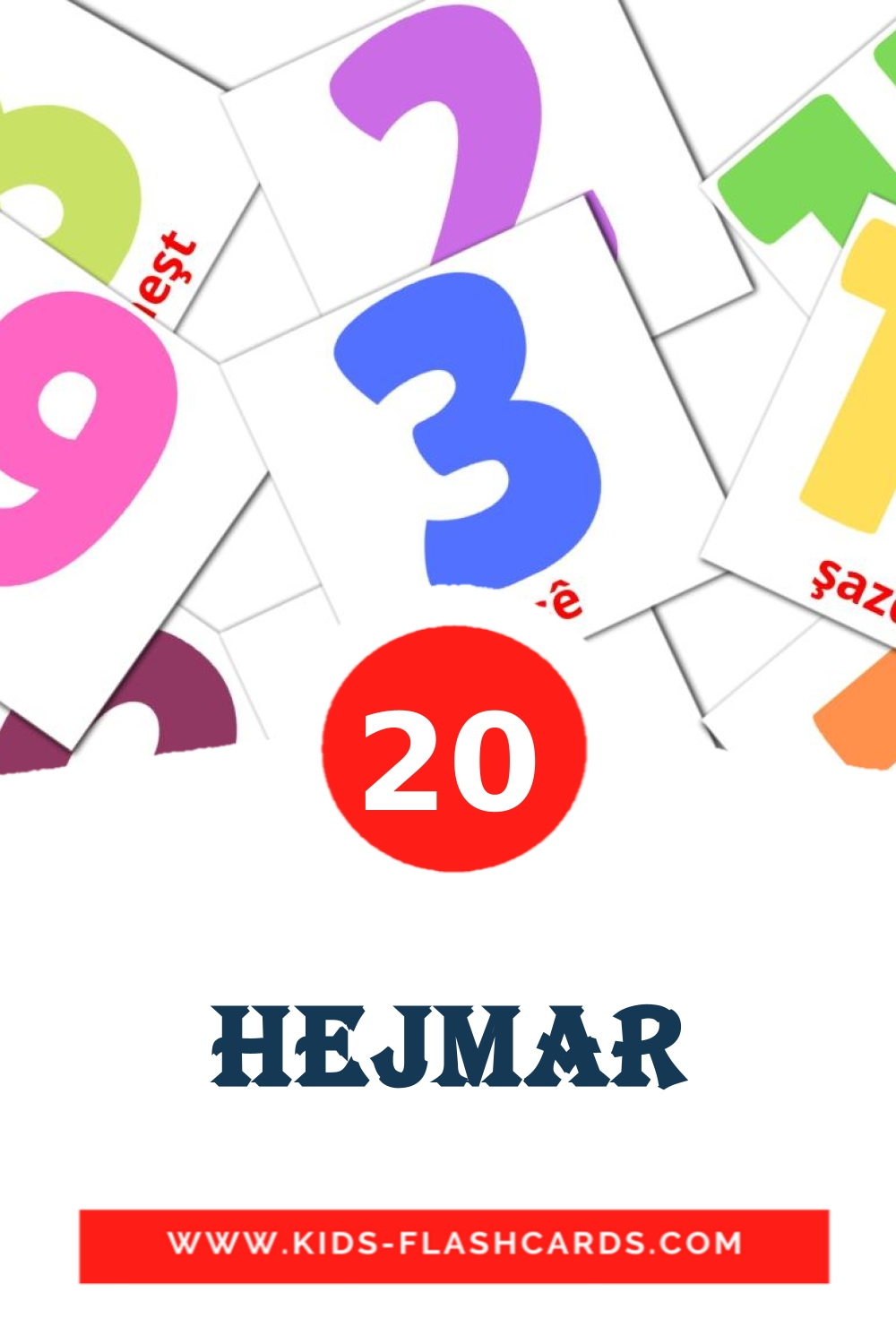 20 Hejmar Picture Cards for Kindergarden in kurmanj(Kurdish)
