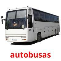 autobusas picture flashcards