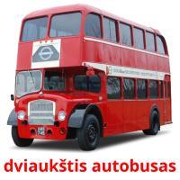 dviaukštis autobusas picture flashcards