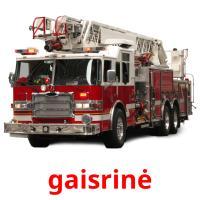 gaisrinė picture flashcards