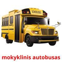 mokyklinis autobusas picture flashcards