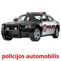policijos automobilis picture flashcards