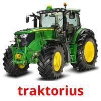 traktorius picture flashcards