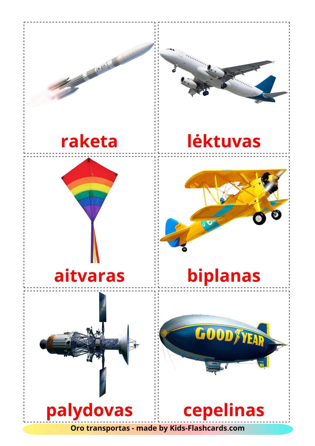 Aircraft - 14 Free Printable lithuanian Flashcards