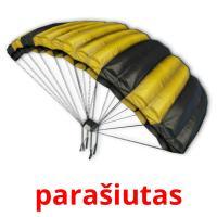 parašiutas picture flashcards
