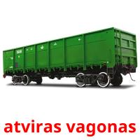 atviras vagonas picture flashcards