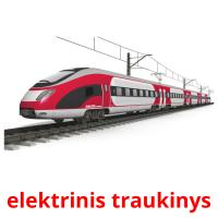elektrinis traukinys card for translate