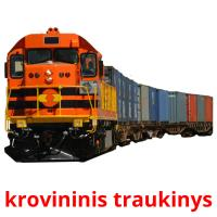 krovininis traukinys card for translate