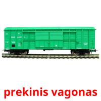 prekinis vagonas picture flashcards